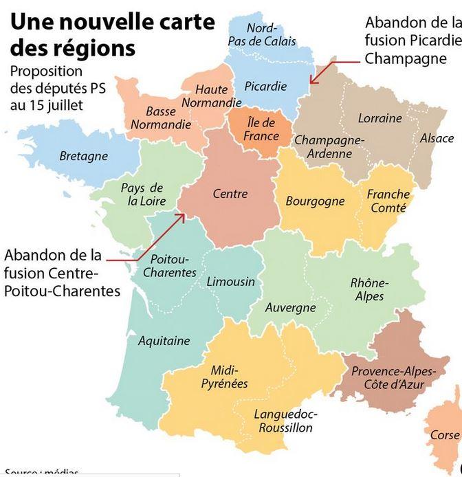 carte des régions votée