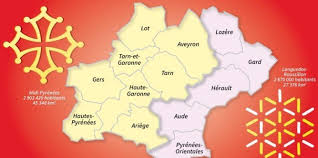 carte region pyrenees languedoc