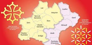 carte region pyrenees languedoc